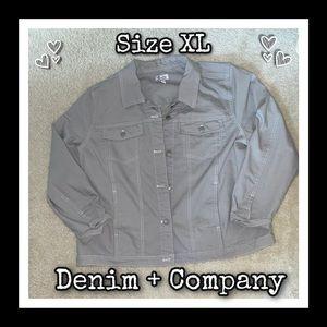 Denim & Company Stretchy Lightweight Jacket Sz. XL